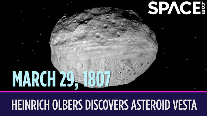 OTD in Space – March 29: Heinrich Olbers Discovers Asteroid Vesta