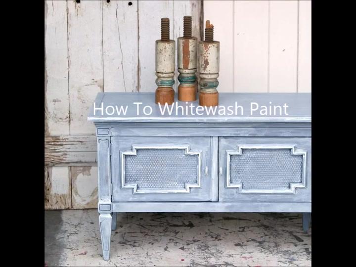 Whitewash White Wash Paint Furniture Technique