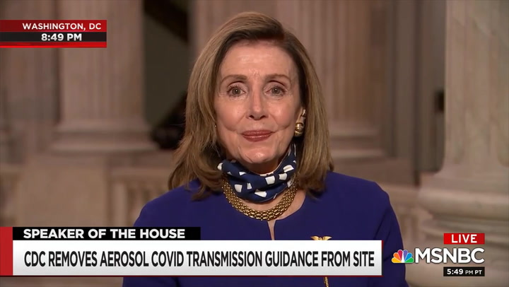 Pelosi: 'The CDC Has Been Totally Discredited' and 'HHS Is Completely a Joke'