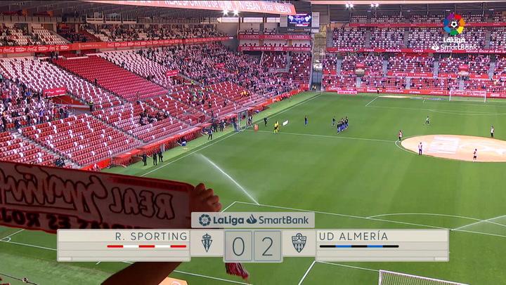LaLiga SmartBank (J42): Resumen y goles del Sporting 0-2 Almería