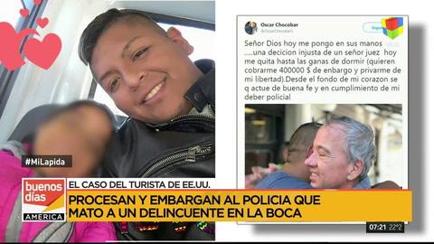 Turista apuñalado: embargan en $ 400 mil al policía que mató a un delincuente en La Boca