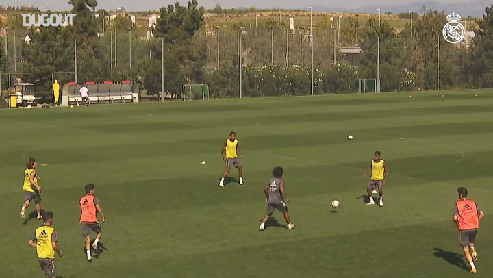 Real Madrid stars practice endurance and ball work to end the week