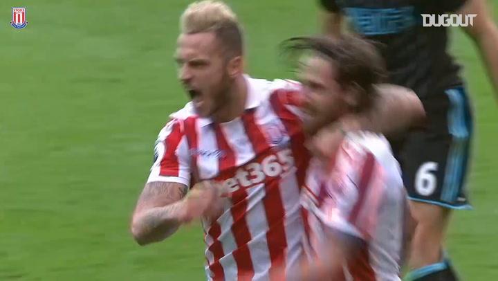 Joe Allen's first Stoke City goal