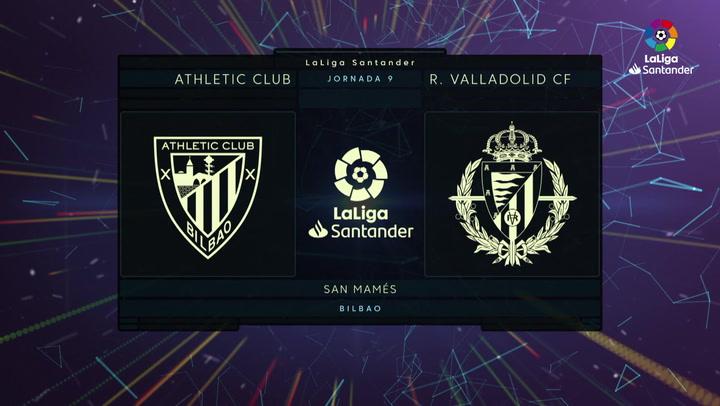 LaLiga (J9): Resumen y goles del Athletic 1-1 Valladolid