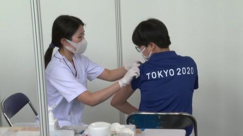 Comienza la vacunación de los miembros de la organización de los Juegos