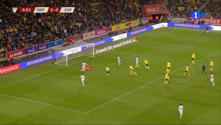 Resumen del Suecia 1-1 España