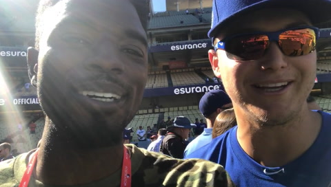 Dee Gordon Supports His Dodger Brothers