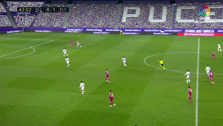 Gol de Josan (0-2) en el Valladolid 2-2 Elche