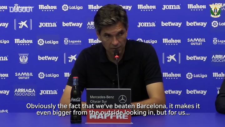 """Leganés Beat Barcelona, But """"It's Only Three Points"""" Says Coach Pellegrino"""