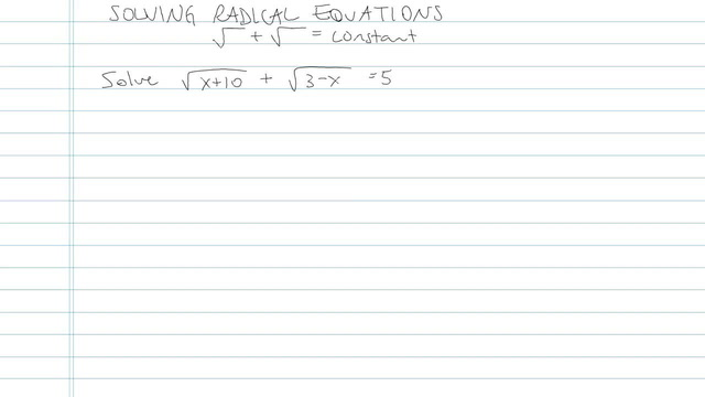 Solving an Equation with Radicals - Problem 6