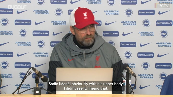 Klopp explains his view on 1-1 draw with Brighton