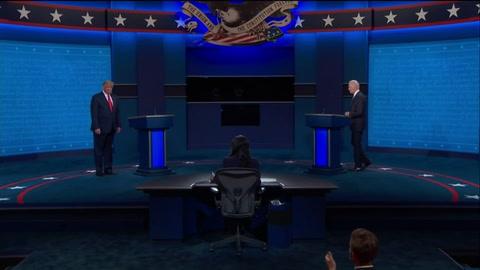 Trump y Biden en debate final sin golpes desestabilizadores a 12 días de la elección