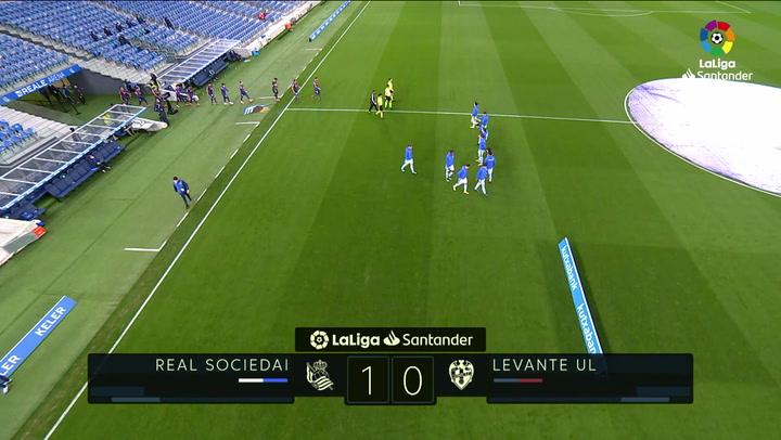 LaLiga (J26): Resumen y gol del Real Sociedad 1-0 Levante