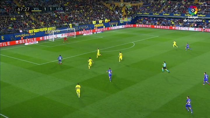 Gol de Óscar Rodríguez (1-2) en el Villarreal 1-2 Leganés