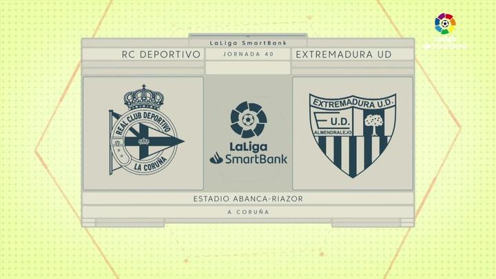 LaLiga SmartBank (J.40): Deportivo 2-3 Extremadura
