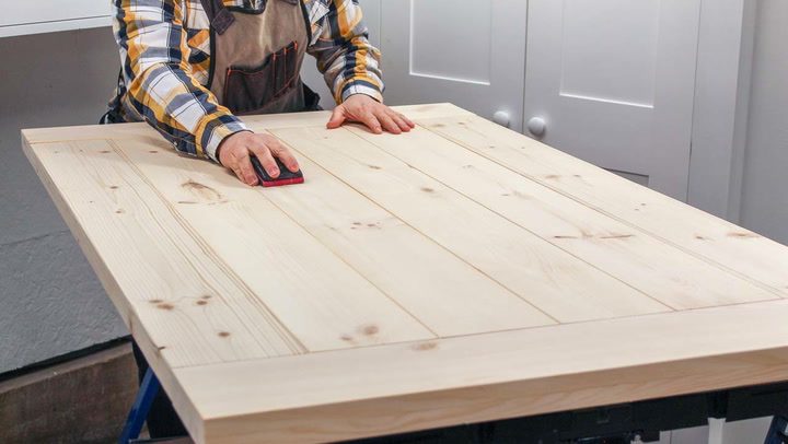 Diy Farmhouse Table Top The Right Way Saws On Skates - How To Fix A Split Table Top