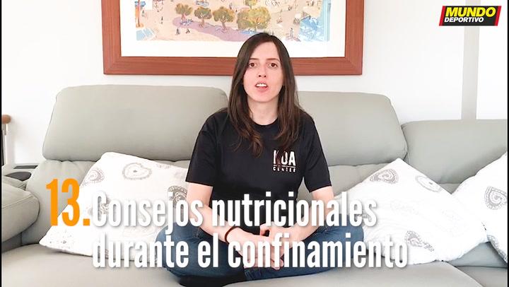 ENTRENA EN CASA (13):  Consejos nutricionales durante el confinamiento