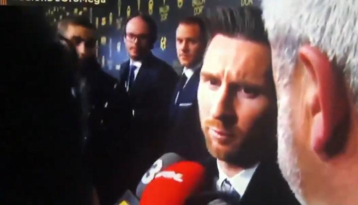 Messi pide a Edu Aguirre que le deje acabar de contestar al resto de medios