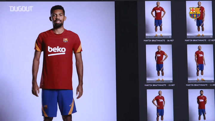 Barça players take part in photoshoot