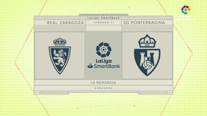 LaLiga SmartBank (J11): Resumen y goles del Zaragoza 1-1 Ponferradina