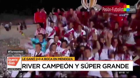 River le ganó a Boca por 2 a 0 y se quedó con la Supercopa