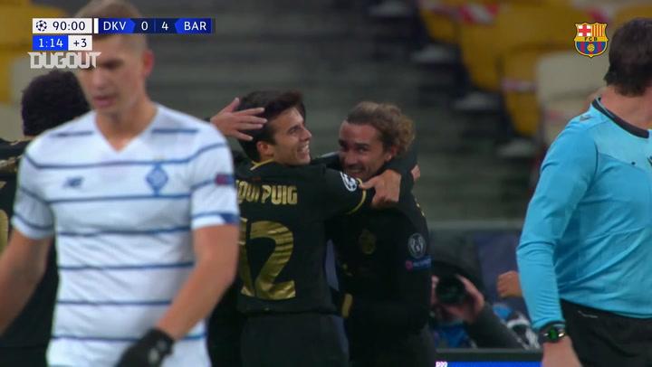 El gol de Antoine Griezmann ante el Dinamo de Kiev