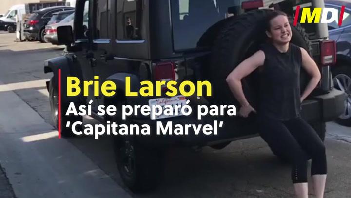 Brie Larson, así se preparó para 'Capitana Marvel'