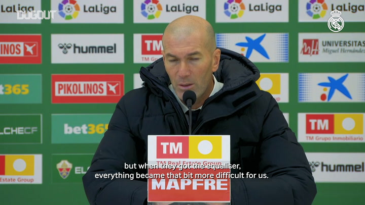 Zinedine Zidane: 'We had the chances but failed to get that second goal'