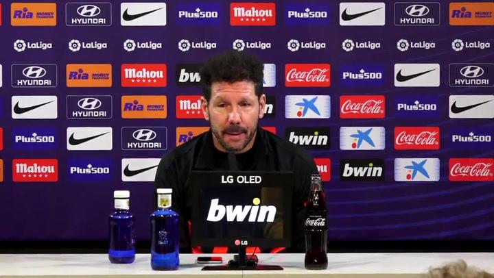 Simeone habla antes del partido ante el Villarreal