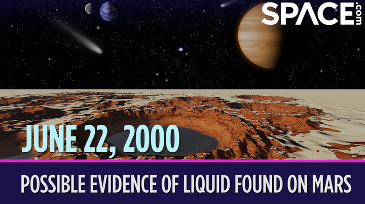 OTD in Space – June 22: Possible Evidence of Liquid Found on Mars