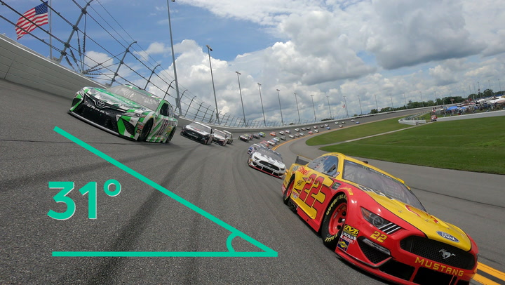 How NASCAR's banked turns help cars go faster
