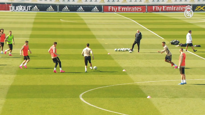 Real Madrid prepare for the match against Real Betis
