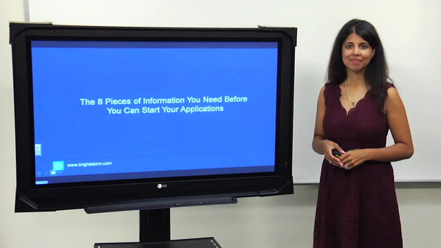 8 pieces of information you need before you start your application