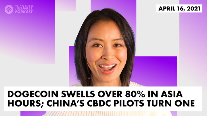 Dogecoin Swells Over 80% in Asia Hours; China's CBDC Pilots Turn One