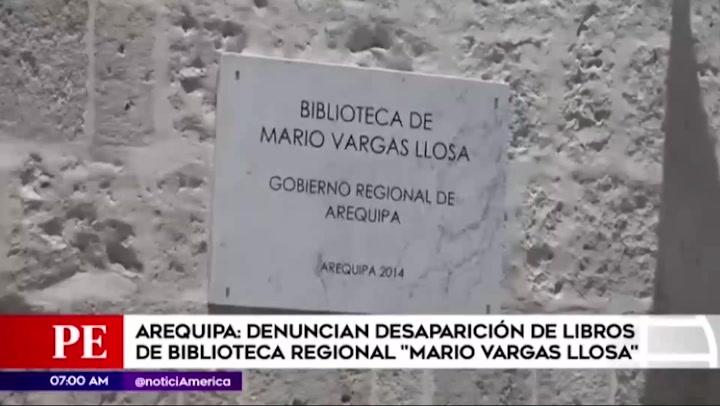 Arequipa: denuncian desaparición de libros de biblioteca regional Mario Vargas Llosa