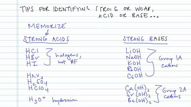 Tips for Identifying Acid and Base Strength