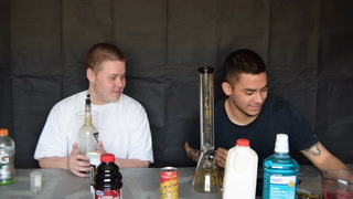 HITTING BONGS WITH DIFFERENT LIQUIDS