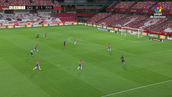 Gol de Rodrygo (0-2) en el Granada 1-4 Real Madrid