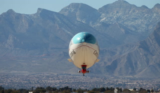 Carnival AirShip floats over Las Vegas