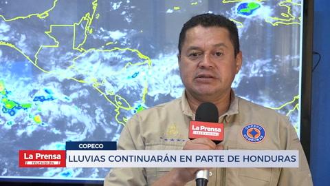 Lluvias continuarán en parte de Honduras