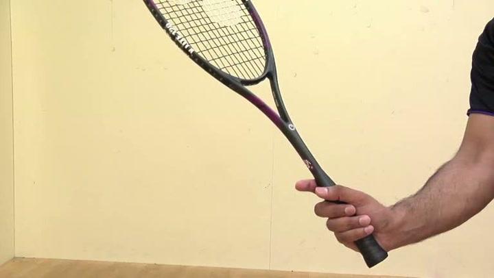 Squash: Hvordan holde racketen