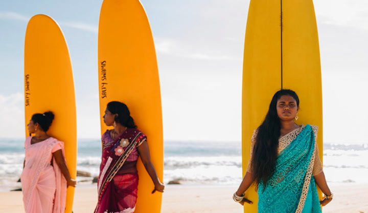Traditionally, women haven't been allowed to surf in Sri Lanka. These young ladies changed all that.