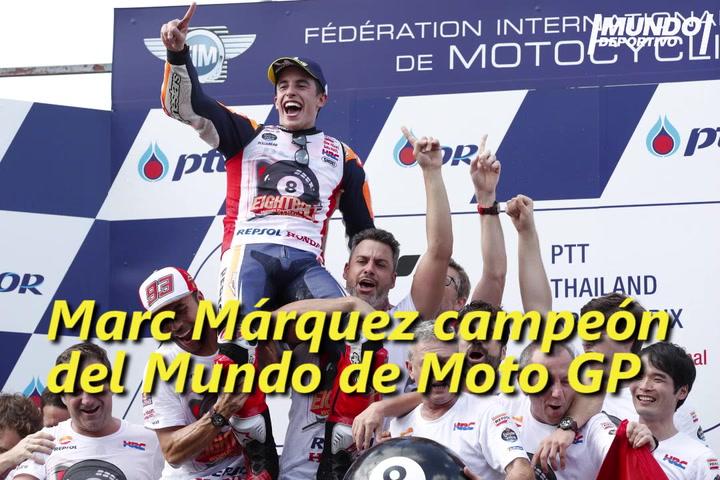 Los ocho títulos de campeón de Marc Márquez