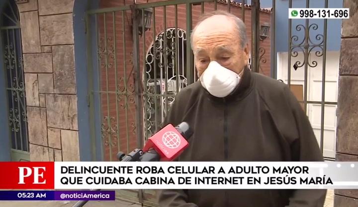 Jesús María: Delincuente amenaza de muerte a anciano al que le robó celular mientras cuidaba cabina de internet