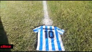 Equipos de Liga Nacional en Honduras rinden tributo a Diego Maradona durante los juegos de la Jornada 12