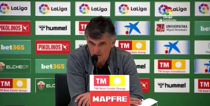 """Mendilibar: """"En la Liga española somos una banda de tramposos. Nos tocan y parece que nos hayan matado"""""""