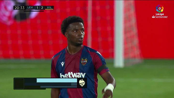 Gol de Malsa (1-2) en el Levante 1-5 Villarreal