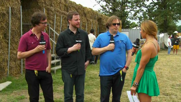 Ben Folds Five On Their First Time At Bonnaroo and New Album (Bonnaroo 2012)