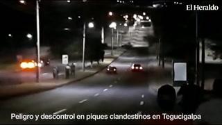 Peligro y descontrol por piques clandestinos en Tegucigalpa