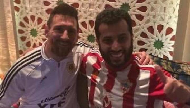 Messi apoya al jeque del Almería